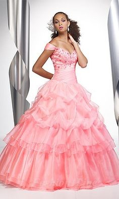 Ball Gown Organza Off-the-shouder Long Dress fashion01037