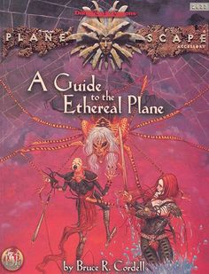A Guide to the Ethereal Plane (2e) - Planescape | Book cover and interior art for Advanced Dungeons and Dragons 2.0 - Advanced Dungeons & Dragons, D&D, DND, AD&D, ADND, 2nd Edition, 2nd Ed., 2.0, 2E, OSRIC, OSR, d20, fantasy, Roleplaying Game, Role Playing Game, RPG, Wizards of the Coast, WotC, TSR Inc. | Create your own roleplaying game books w/ RPG Bard: www.rpgbard.com | Not Trusty Sword art: click artwork for source
