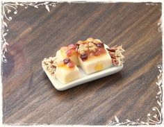 112 CHEESE with DRIED FRUITS dollhouse by SorayaMiniatures on Etsy, $13.99
