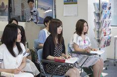 札幌観光ブライダル・製菓専門学校 エアライン学科、観光総合学科オープンキャンパス アシスタント 引継式