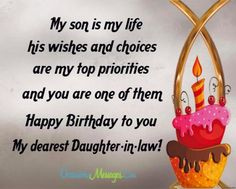 Happy Birthday Messages For Daughter In Law Greetings Message
