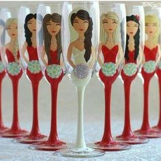 Copas novia y damas de honor