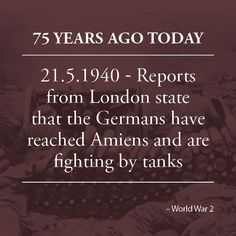 The Germans have reached Amiens in the north of France, fighting by tanks and other advanced units. The situation is said to conform somewhat, although to a much vaster scale, to that of 1916 and 1917 when attacks were carried out in quick succession without proper mopping up. French forces have evacuated Laon, between Amiens and Rethel.