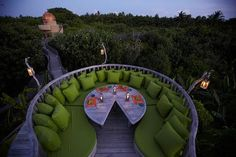 Comfy outdoor space.