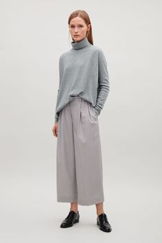 COS image 6 of Roll-neck merino jumper in Grey