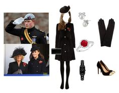 """""""harry's fiance first poppy day with kate and mother-in -law"""" by simrankaurhunjan-sk ❤ liked on Polyvore featuring Betsey Johnson, Karl Lagerfeld, SELECTED, Alice by Temperley, Sole Society, Yves Saint Laurent, Honour, jared and Echo Design"""