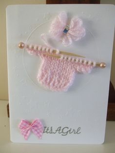 New Baby Girl Card £2.50