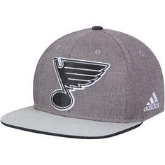 best loved 948bc c68c7 adidas St. Louis Blues Gray Travel   Training Adjustable Snapback Hat
