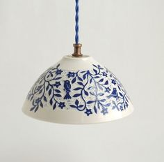 A porcelain hanging pendant light, hand carved with birds and flowers. This is a charming light fixture that by its nature would enhance any Porcelain, White Porcelain, Porcelain Pendant Light, Hanging Lights, White Pendant, Ceiling Lights, Ceramic Pendant, Light Accessories, Light