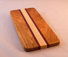 Maple, Cherry, and Purple Heart Cheese Board