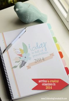 Getting and staying organized in 2014, Blogger Calendar, Celebrating Everyday Life with Jennifer Carroll