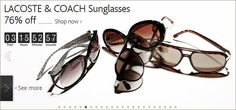 [ LACOSTE & COACH Sunglasses ] Another way to enjoy a hot summer by looking stylish under the sun  http://clubvenit.com/deal/1318