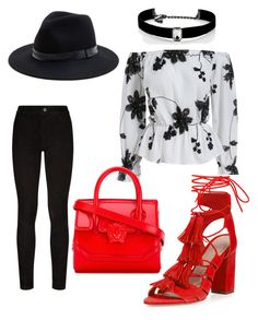 """Casual"" by lizzythedizzy on Polyvore featuring Sole Society, Paige Denim, Loeffler Randall, Versace and Kenneth Jay Lane"