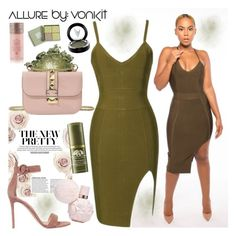 """Allure by: VONKIT"" by gaby-mil ❤ liked on Polyvore featuring Gianvito Rossi, Valentino, Rock Revival, Origins, MAC Cosmetics, Vera Bradley, dress and allurebyvonkit"