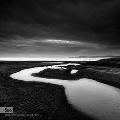 for more wallpapers http://ift.tt/1WArfgQ and http://ift.tt/1WGbQM8 Black and whiteParosRiverbeachcloudslandscapeseascape