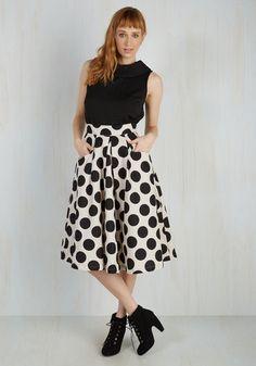 Beauteous Brunch Skirt   Mod Retro Vintage Skirts   ModCloth.com
