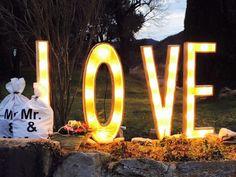 Letras luminosas para bodas y eventos. Se pueden personalizar con las iniciales de los novios Marquee Lights, Table Decorations, Home Decor, Wedding Decoration, Channel Letters, Initials, Decorations, Decoration Home, Room Decor