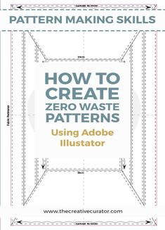 Click to see how I created a zerowaste sewing pattern using Adobe Illustrator. It's a fun pattern making technique for those who like pattern drafting but have not yet had a try at zero waste pattern making! #patterndrafting #zerowaste #patternmaking Clothing Patterns, Sewing Patterns, Pattern Drafting, Cool Patterns, Pattern Making, Zero Waste, Sewing Basics, Sewing Rooms, Dressmaking