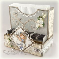 Cardville- Elizabeths Kreative sider: Tea and Napkin box-Link to tutorial