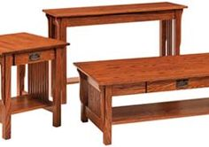 Amish Outlet Store : Leah Sofa Table in Oak