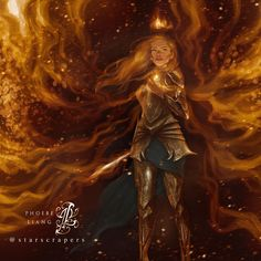 this was sitting there ever since i read kingdom of ash and now it's done! i love painting swirly things - the fire,… Throne Of Glass Fanart, Throne Of Glass Books, Throne Of Glass Series, Aelin Ashryver Galathynius, Celaena Sardothien, Book Characters, Fantasy Characters, Fantasy Books, Fantasy Artwork