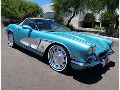The Chevrolet Corvette is the first generation of the Corvette sports car produced by Chevrolet. It was introduced late in the 1953 model year and produced through 1962. #corvette #classic car #best car #hot car Chevrolet Corvette, 1962 Corvette, American Classic Cars, Aircraft, Vehicles, Model, Hot, Sports, Vintage Cars