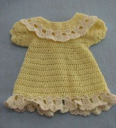Lemon Lace Baby Dress and Matching Jacket pattern by Donna Collinsworth