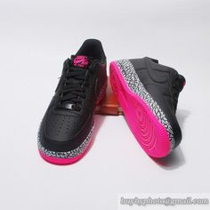 Men And Women Nike Air Force 1 Lovers Shoes Elephant Print Black Pink|only US$95.00 - follow me to pick up couopons.