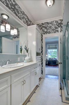"Great Small #bathroom Ideas. Bathroom. Small Bathroom Ideas Wallpaper: ""Schumacher ""shadow vine""."