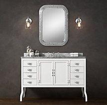 Pharmacy Extra-Wide Single Vanity Sink 2600$ restauration hardware