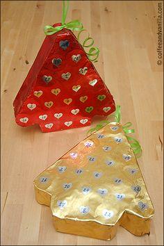 Upcycled Cardboard Rolls Christmas Calendars