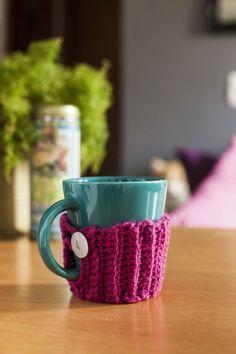 Suéter de caneca - mug cozy.