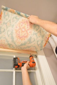 How To Make A DIY Window Shade in 15 Minutes | Young House Love Bathroom Window Coverings, Basement Window Coverings, Curtains For Bathroom Window, Diy Window Blinds, Dyi Curtains, Door Window Covering, Curtain For Door Window, Window Valances, Bathroom Windows