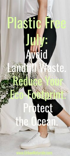 Plastic Free July: Avoid Landfill Waste. Reduce Your Eco-Footprint. Protect the Ocean - Plastic Free July isn't about drastic lifestyle change; it's about being more conscious of the single-use plastics that you use day-to-day and taking small but smart steps to reduce them. Taking the challenge is a great way to start. #PlasticFreeJuly #PlasticFree #AvoidLandfillWaste #ReduceEcoFootprint #Protect the Oceans Plastic Free July, Plastic Pollution, Simple Life Hacks, Free Tips, Plastic Waste, Sustainable Living, Oceans, Footprint, Challenge