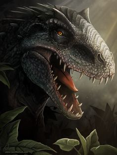 Studying any images I could gather from the preview videos of Jurassic World, here is my fan made illustration on the I-Rex /Indominus Rex. I realize every day new images are released of the ...