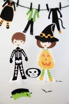Paint Me Pink's Halloween Paper Dolls | Sweet Little Peanut