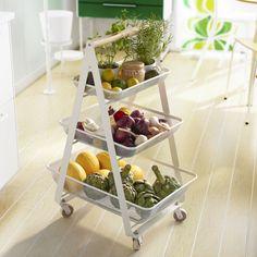 RISATORP roltafel | #IKEA #nieuw #etagère #draadmand #keuken #fruitschaal