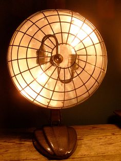 Vintage Electric Heater Lamp Light by AthensRelight on Etsy