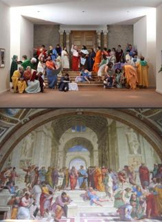 Raphael, School of Athens staged