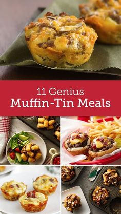 Genius Ways to Make Your Next Meal in a Muffin-Tin Genius Ways to Make Your Next Meal in a Muffin-Tin,Muffin-Tin Meals From mini cheeseburgers to French toast cups, these bite-sized ideas will revolutionize the. Cupcake Pan Recipes, Muffin Pan Recipes, Mini Cupcake Pan, Loaf Recipes, Cooking Recipes, Cooking Eggs, Egg Recipes, Savory Muffins, Mini Muffins