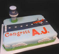 Air Traffic Controller Cake
