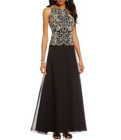 Shop for Jkara Petite Beaded Bodice Chiffon Gown at Dillard's. Visit Dillard's to find clothing, accessories, shoes, cosmetics & more. The Style of Your Life. Beaded Chiffon, Beaded Gown, Chiffon Gown, Mob Dresses, Dresses Online, Formal Dresses, Bride Dresses, Mother Of The Bride Gown, Mother Of Groom Dresses