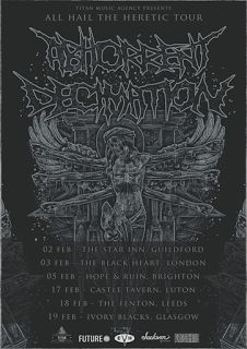 Long Live The Loud 666: ABHORRENT DECIMATION UNITED KINGDOM TOUR 2017