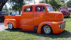 """Old Truck"" by T. Fogg, custom made 4-door 1948 F-6 COE pickup."