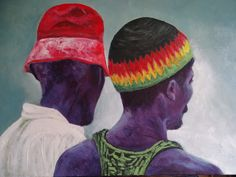 "Title: ""No woman no cry"" Ghana   Oil on canvas  60-80cm      FOR SALE"