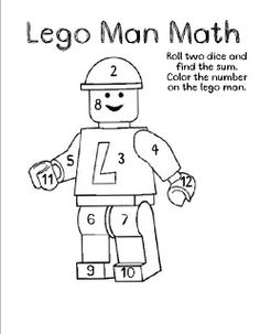Tales From a Classroom: Everyday Math Games ~ Variation: Multiply instead. Change the numbers on Lego Man to reflect the possible products. Lego Math, Math Classroom, Kindergarten Math, Fun Math, Math Games, Teaching Math, Math Activities, Classroom Freebies, Teaching Ideas