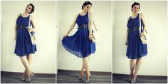 blue chiffon ebay dress, zebra shoes heels, summer outfit, curvy blogger modré šaty, zebra lodičky, outfit, blogerka,
