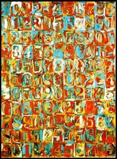 """Jasper Johns """"Numbers In Color"""" 1958-59"""