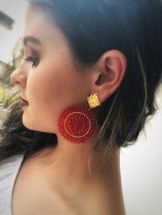 Woven Bead Earrings Boho Chic Pendants Handmade Woven image 2 Bead Earrings, Crochet Earrings, Woven Image, Indian Jewelry Sets, Earring Tutorial, Brick Stitch, Beaded Embroidery, Boho Chic, Beaded Jewelry