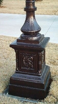Antiquestreetlampposts product overview this elegant outdoor lamp base mozeypictures Images